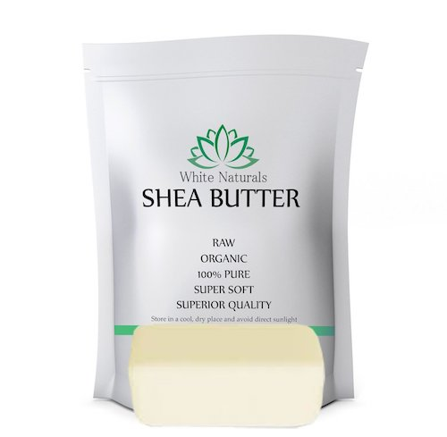 white naturals shea butter sample